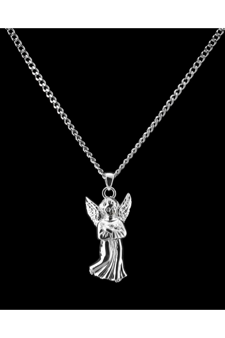 Sterling Silver Guardian Angel Cremation Pendant #36-525